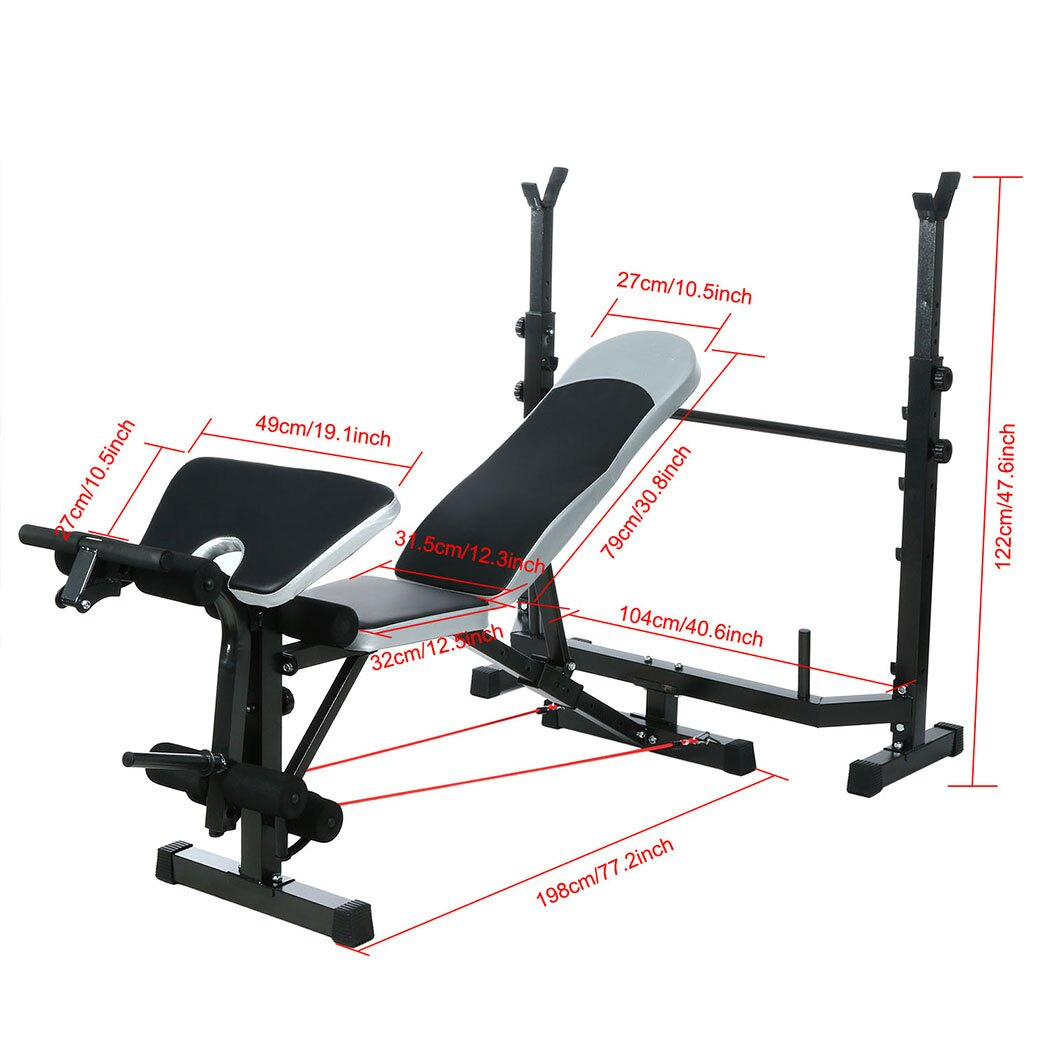 Mid-Width Bench Arms Height Adjustable Fitness Home Use 2