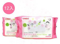 【尋寶趣】優美科純水濕紙巾 60抽 一箱12包 濕巾 超厚 嬰兒柔濕巾 護膚 台農 台灣製造 WWP-U060X12