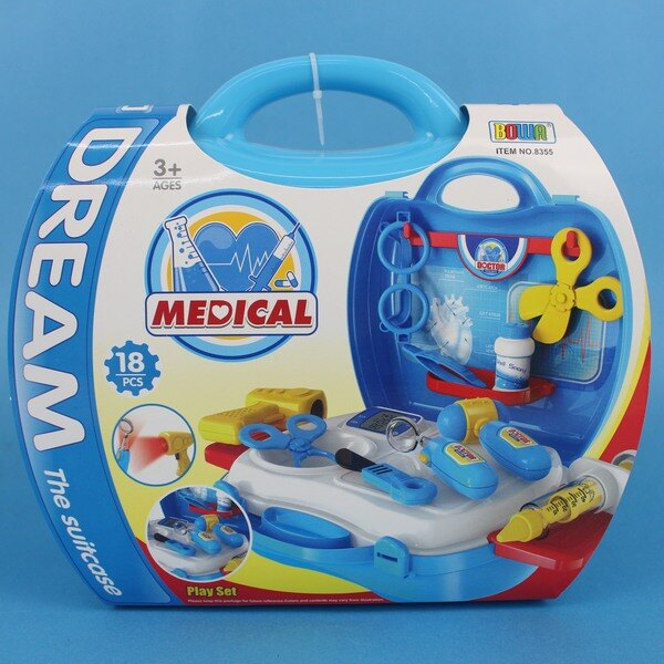 夢想手提箱 醫生組 NO.8355 扮家家酒玩具(藍)/一組入 促[#350]手提箱護士醫生遊戲玩具組~睿8311