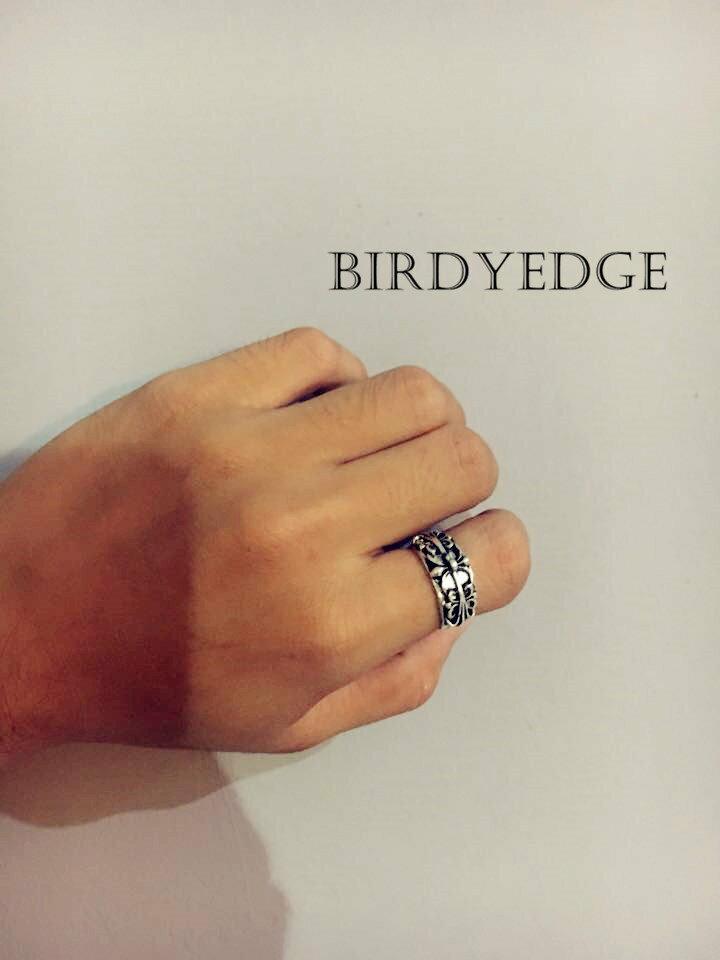 【Birdy Edge】克羅心 十字架 羅馬 聖經 戒指 耶穌 男