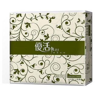 LIVI 優活抽取式衛生紙 130抽x80包/箱 【每包只要 $8.7】