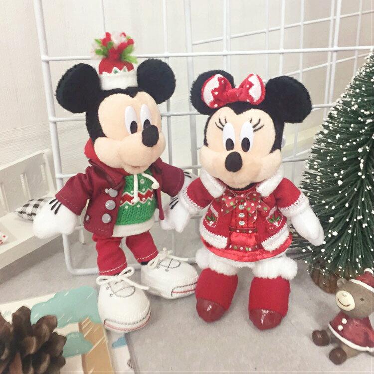 PGS7 日本迪士尼系列商品 - 日本 迪士尼 2016 聖誕 吊飾 絨毛 娃娃 玩偶 聖誕節 米奇 米妮【SKD61129】