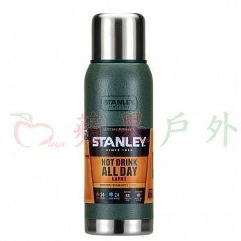 【【蘋果戶外】】Stanley 1001562 冒險系列真空保溫保冷瓶 0.75L 錘紋綠 登山露營保溫壺