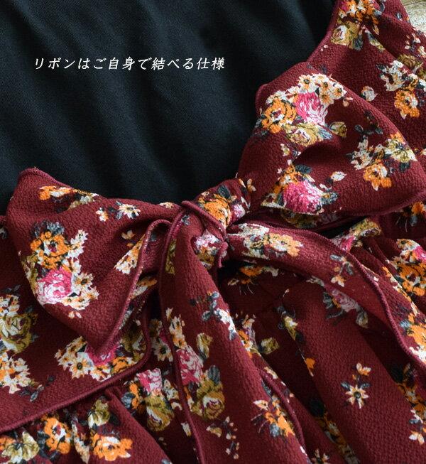 日本e-zakka / 花紋長版連衣裙 / 32603-1800946 / 日本必買 代購 / 日本樂天直送(5500) 8