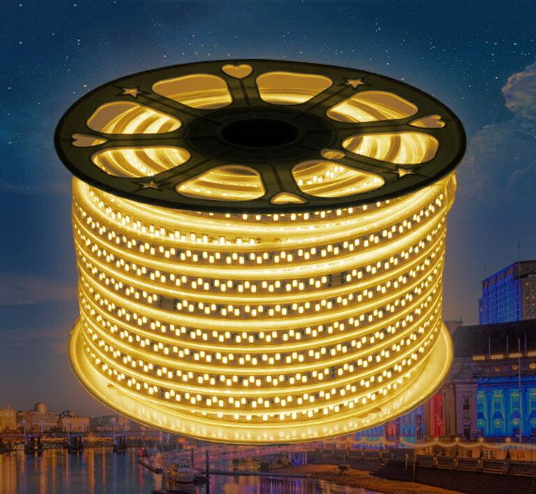 【露營趣】中和安坑 中和安坑 5730 LED燈條 雙株雙排超亮黃光+調光開關 露營燈 氣氛燈 客廳帳天幕帳可用