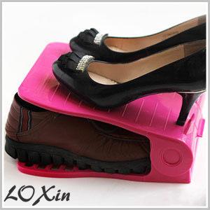 Loxin【SA0102】第二代簡易可調式雙層收納鞋架 鞋子收納 鞋盒 鞋櫃 高跟鞋收納