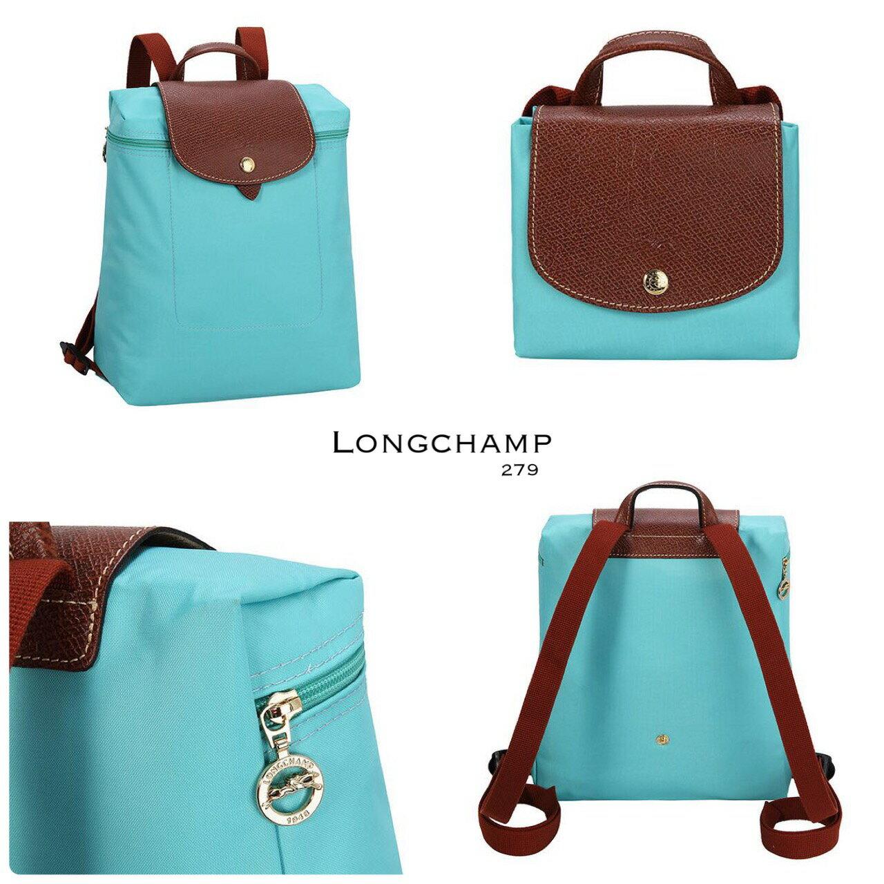 【LONGCHAMP】 LE PLIAGE 湖水綠折疊後背包 2