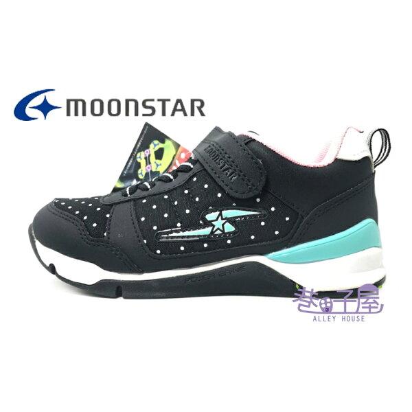 【巷子屋】Moonstar月星童款健康機能運動慢跑鞋[6626]黑粉超值價$690