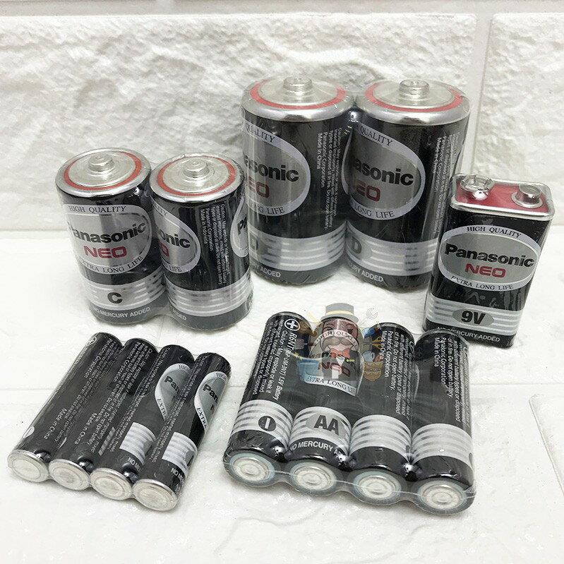 《大信百貨》 Panasonic國際牌碳鋅電池 錳乾電池1號 電池2號 電池3號 電池4號 1.5V 錳乾電池9V