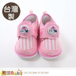女寶寶鞋 台灣製迪士尼米妮正版閃燈嗶嗶鞋 魔法Baby~sk0562