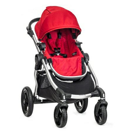 美國【Baby Jogger】City Select 四輪嬰兒推車 (銀管紅) - 限時優惠好康折扣