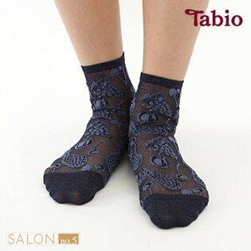 【靴下屋Tabio】熱帶水果圖案半透膚亮蔥短襪日本職人手做