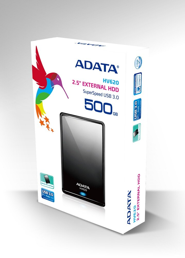 ADATA DashDrive HV620 USB 3.0 External HDD 500GB Black (AHV620-500GU3-CBK) 1