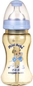 蜜妮寶貝嬰童用品館:【蜜妮寶貝嬰童用品館】專利一般口徑防脹奶瓶(容量:260ml8oz顏色:藍)型號:BB-09801