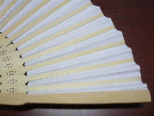 8英吋空白扇子 彩繪扇子 21cm 單面紙手繪扇 / 一支入 { 定30 }  日本扇子 小紙摺竹片~5153 1