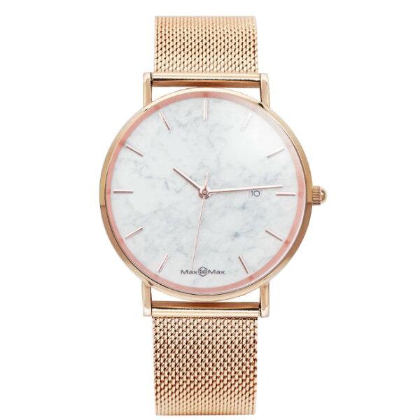 MaxMaxMAS7020-1素面時尚流行腕表-白42mm