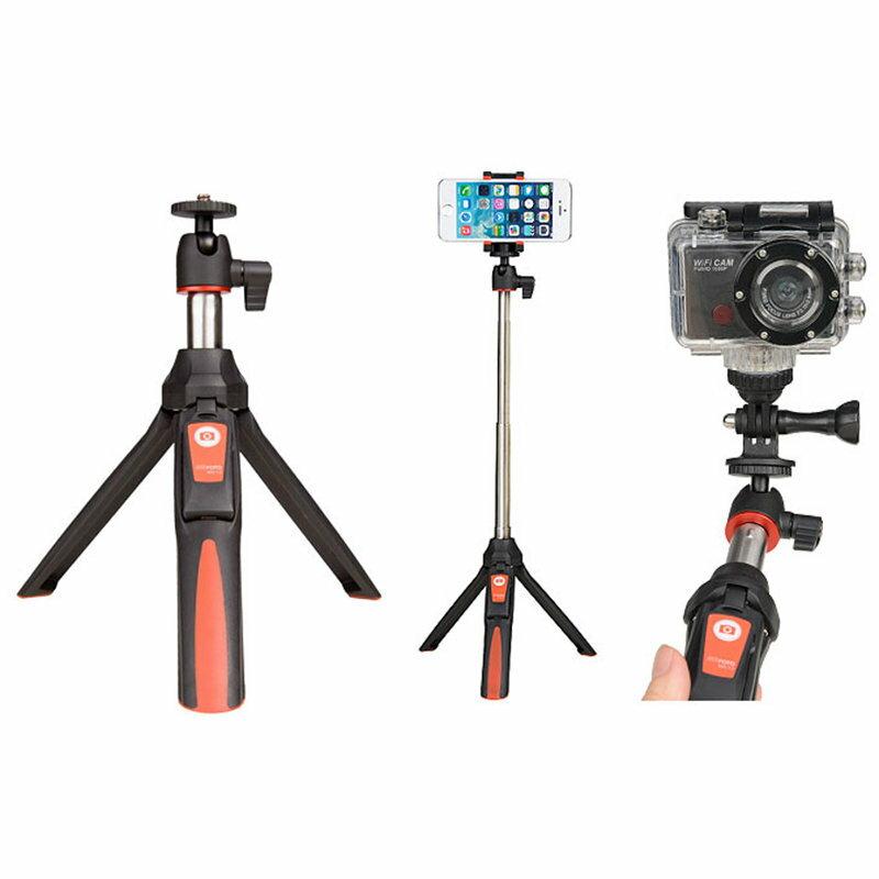 ◎相機專家◎ MeFOTO MK10 自拍神器 自拍棒 桌上型腳架 手機/GoPro兩用 遙控拍攝 紅藍兩色 勝興公司貨