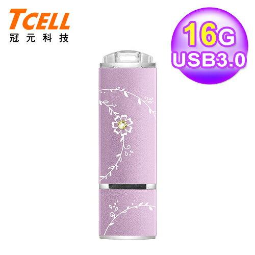 TCELL 冠元 USB3.0 16GB 絢麗粉彩隨身碟-薰衣草紫【三井3C】