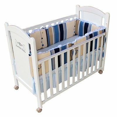 糖果彩條單護圈-L 嬰兒床寢具【六甲媽咪】