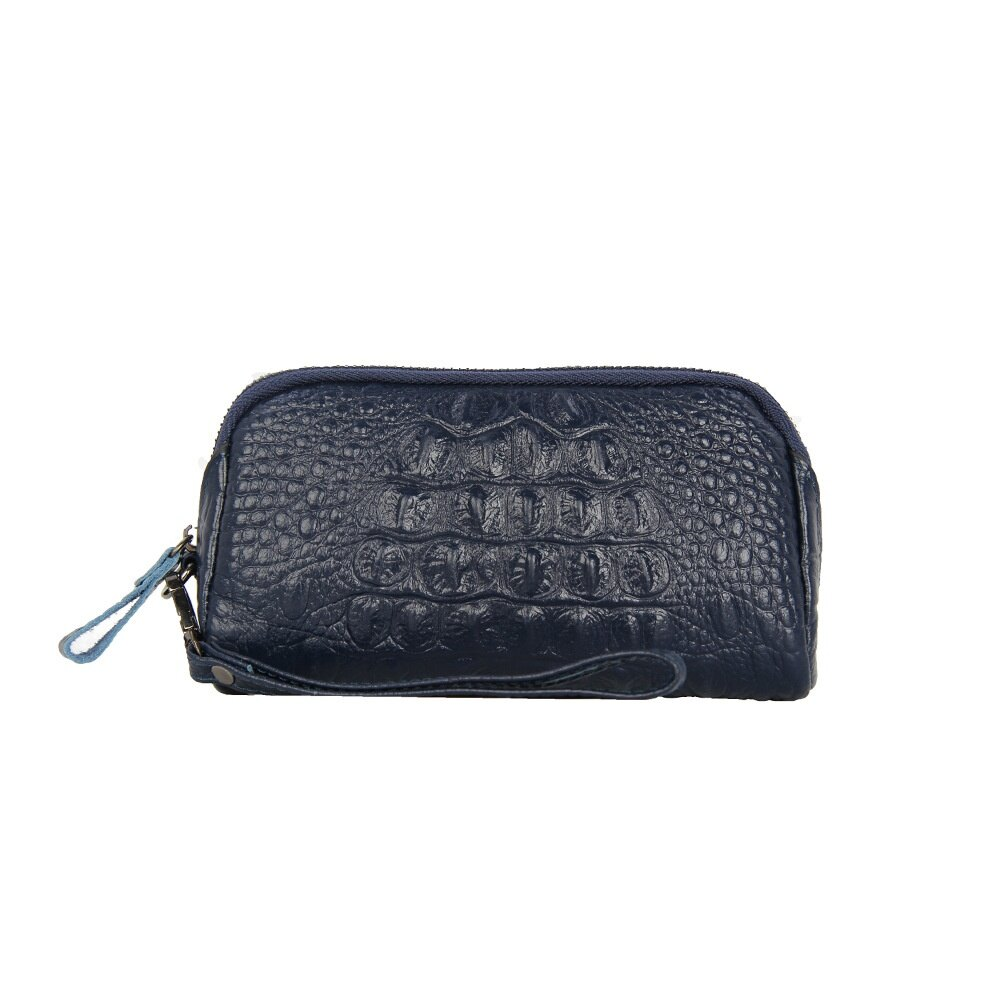 手拿包真皮錢包-純色鱷魚紋牛皮長款女包包5色73wz39【獨家進口】【米蘭精品】 1