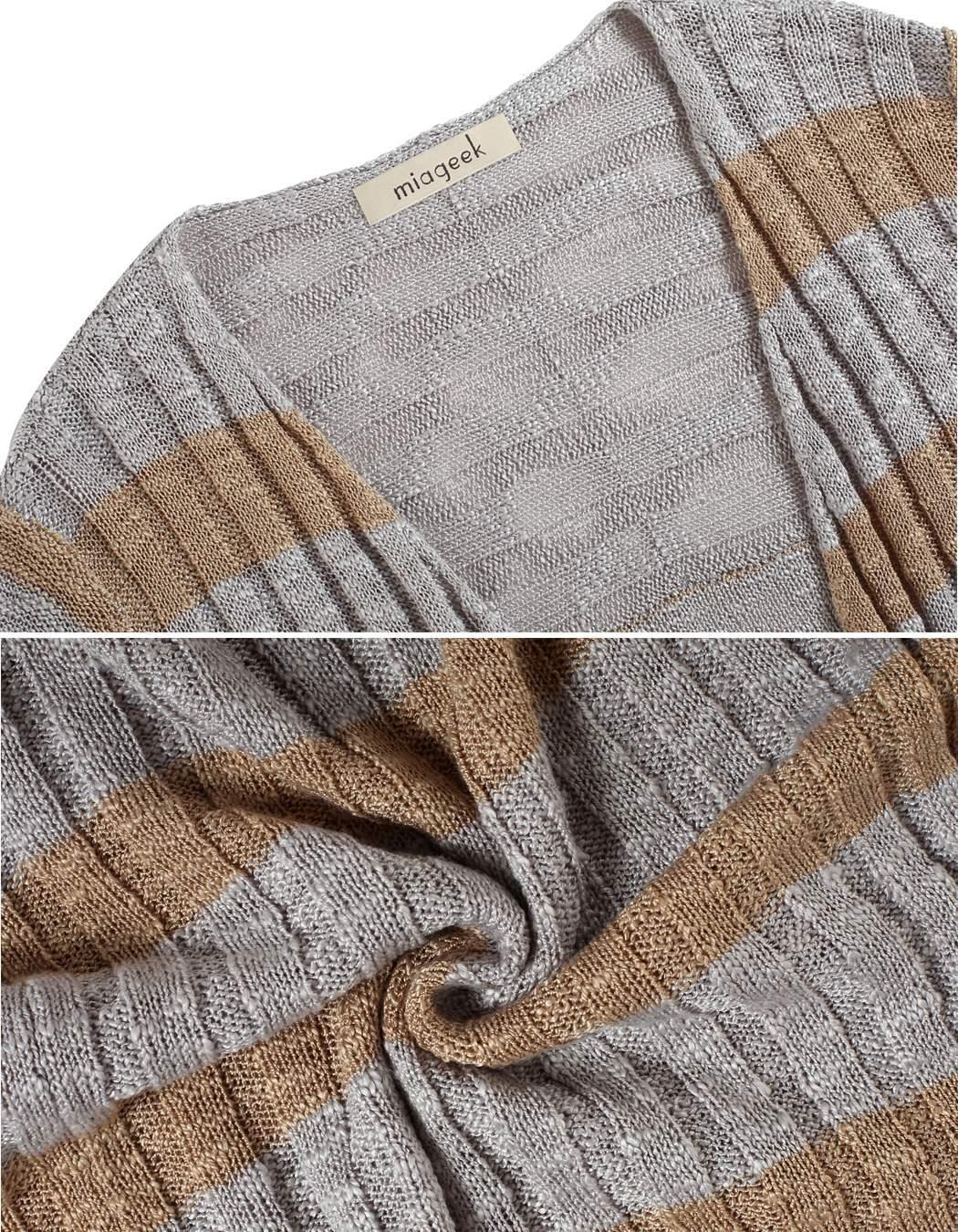 Miageek Women Long Sleeve Maxi Cardigan Outwear 4