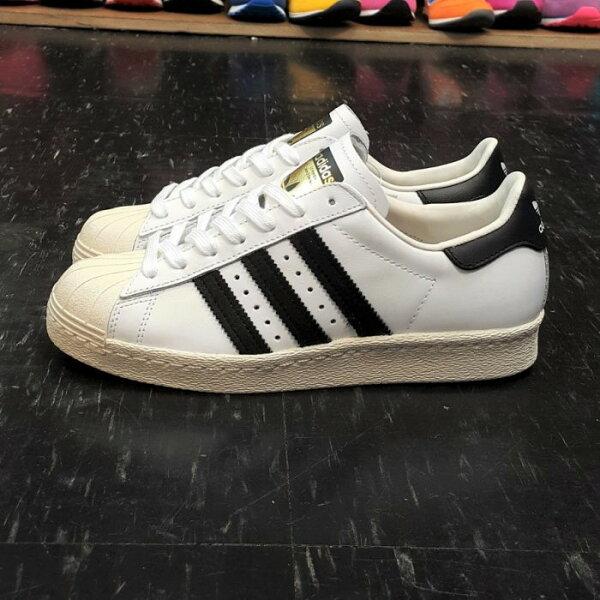 adidas SUPERSTAR 80s 金標 貝殼頭 白色 白黑 奶油底 薄鞋舌 復古 皮革 真皮 G61070