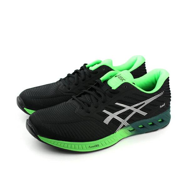 ASICS 亞瑟士 fuzeX 鞋 男鞋 黑綠色 no286