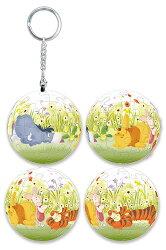 Winnie The Pooh花花世界立體球型拼圖鑰匙圈24片-D069