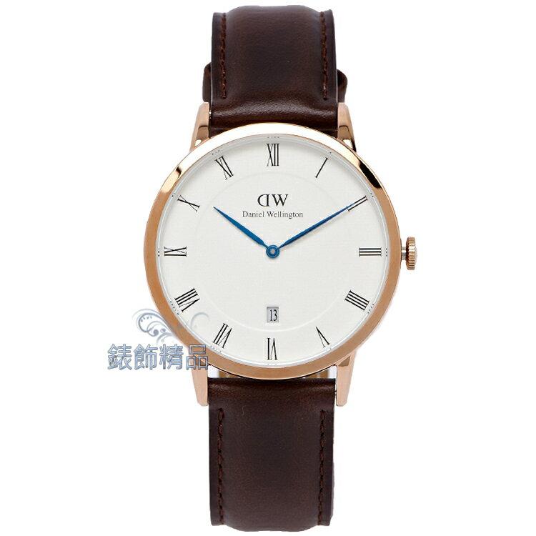 【錶飾精品】現貨Daniel Wellington瑞典DW手錶 DW00100086/1103DW Dapper BRISTOL 38mm 玫瑰金 全新原廠正品