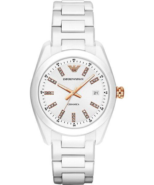 Emporio Armani 阿曼尼 Ceramica 晶鑽時尚腕錶 AR1495 39mm - 限時優惠好康折扣