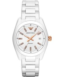 Emporio Armani 阿曼尼 Ceramica 晶鑽時尚腕錶 AR1495 39mm