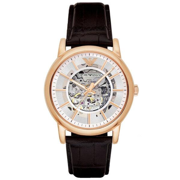 EMPORIOARMANIAR1983雅痞機械時尚腕錶白面43mm