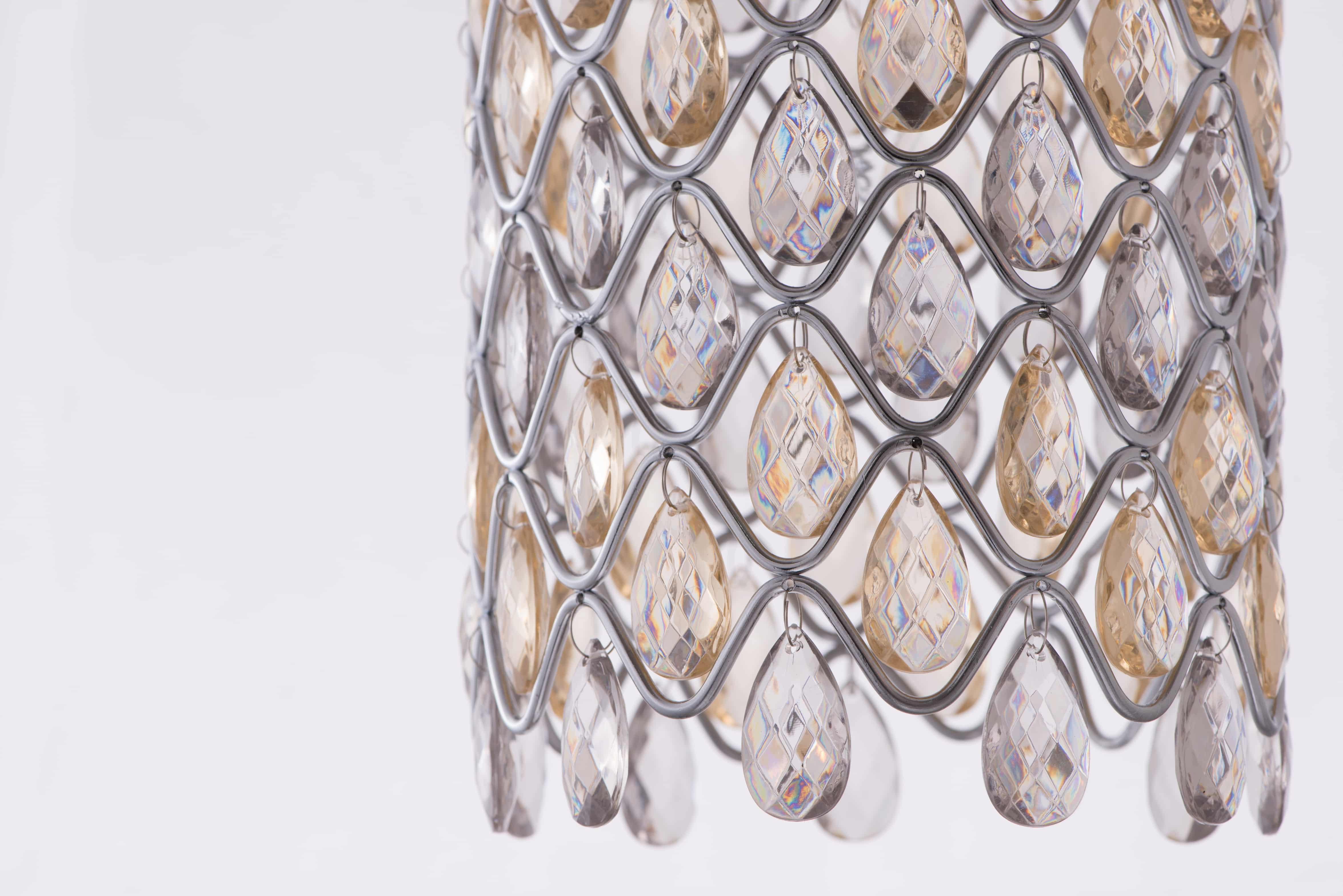 鍍鉻波浪紋壓克力珠吊燈-BNL00051 2
