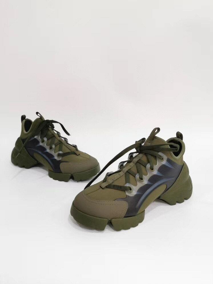 【Chiu189英歐代購】DIOR 軍綠色 迪奧 復古風 厚底 老爹鞋