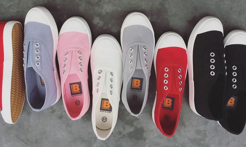 小白鞋套腳淺口帆布鞋平底女鞋