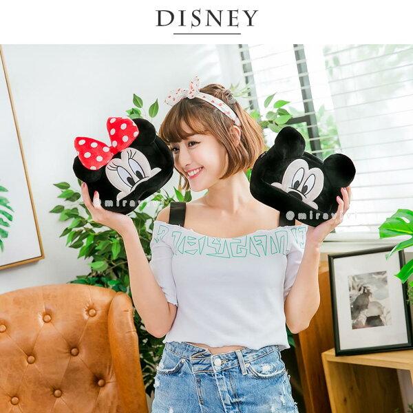 Disney迪士尼立體絨毛化妝包大臉系列