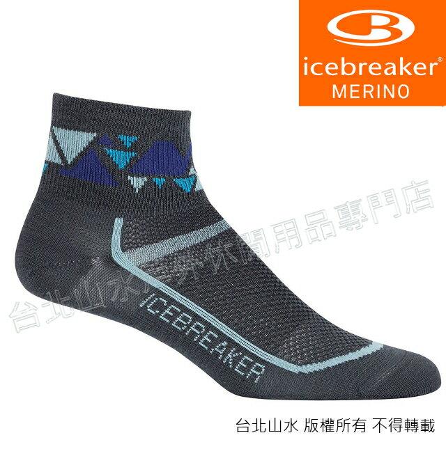 Icebreaker 短筒輕薄毛圈多功能運動襪/羊毛襪/排汗襪/低筒襪/美麗諾羊毛 女款IB101482 001 深灰藍