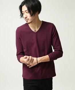橫條紋T恤WINE