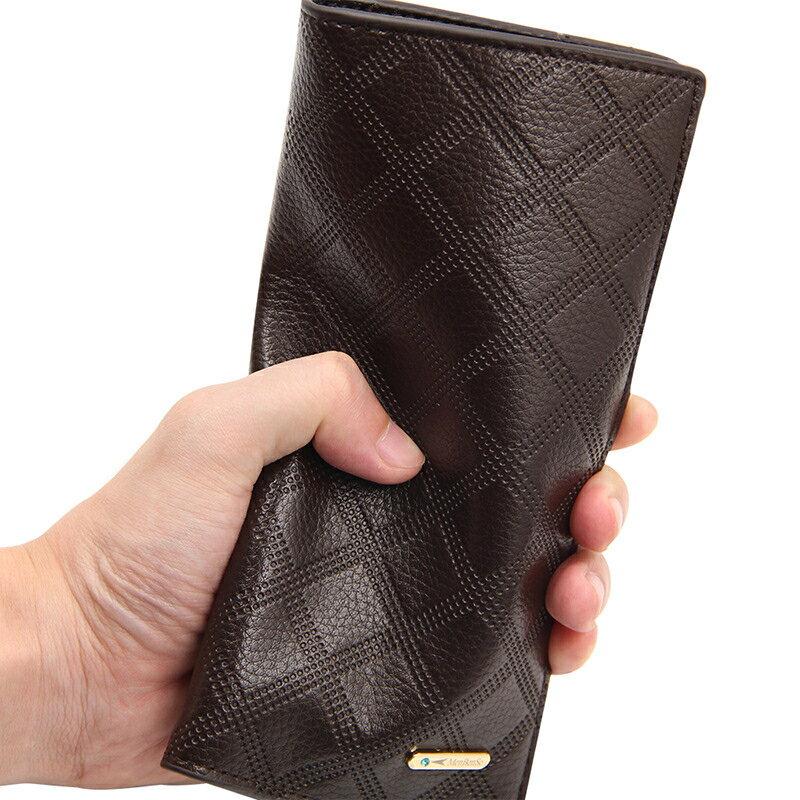 百搭皮夾長夾錢夾大容量 手拿錢包男士長款長夾 男生簡約長款長夾 多卡位皮夾商務長款手包錢包♠極有家♠
