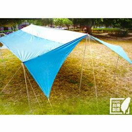 【贈營繩燈+掛物帶】PolarStar 方型變形天幕專業套裝組 P15709 戶外 登山 露營