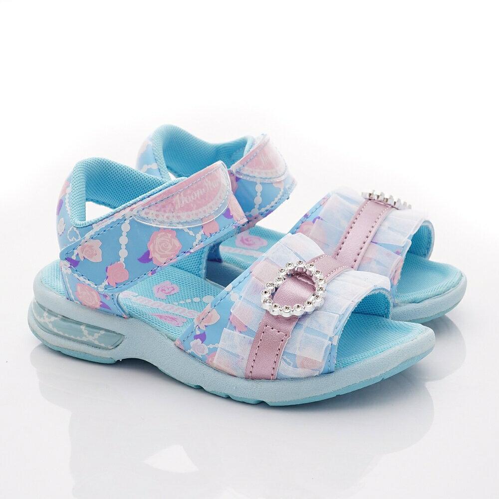 日本月星Moonstar機能童鞋涼鞋系列公主涼鞋款5149藍(中小童段) 618購物節