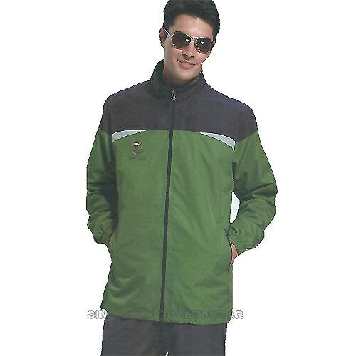 義大利名牌SINA COVA男女平織網裡運動服套裝-全套(灰綠)#S8203A1-B1 - 限時優惠好康折扣