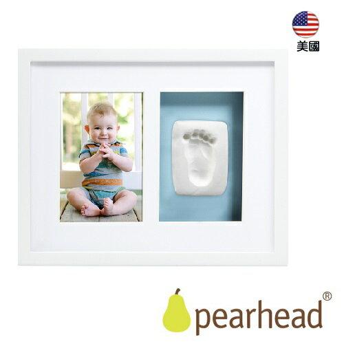 【Pearhead 】寶寶印記掛牆相框(2格) – 白色