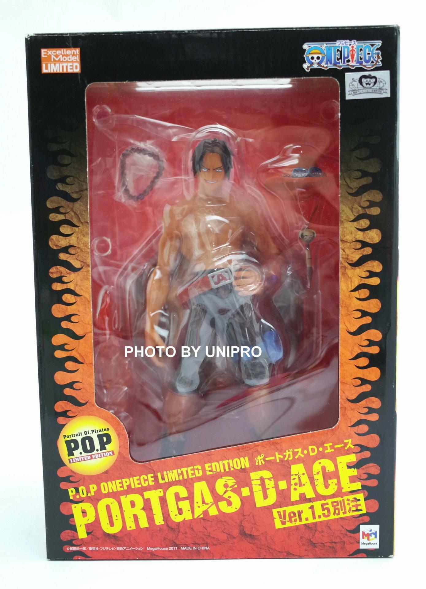 日版 銀底黑貓證紙 POP 艾斯 Ver 1.5 別注限定版 海賊王 航海王 One Piece P.O.P