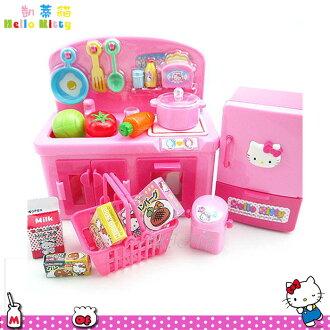 大田倉 日本進口正版Hello Kitty 凱蒂貓 扮家家酒 廚房玩具組 流理台 廚房 玩具 003831