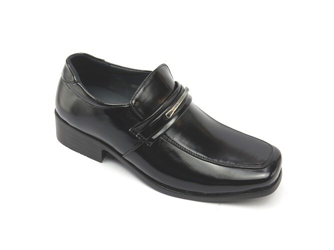 *男皮鞋* 時尚舒適方頭排壓氣墊皮鞋77-9869(黑)☆【彩虹屋】☆