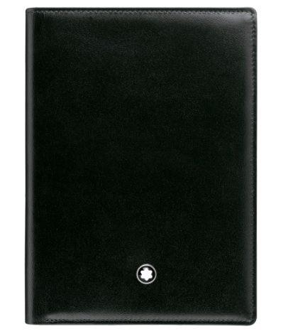 萬寶龍MONTBLANC-經典亮面皮夾(7格信用卡袋+身分證袋)