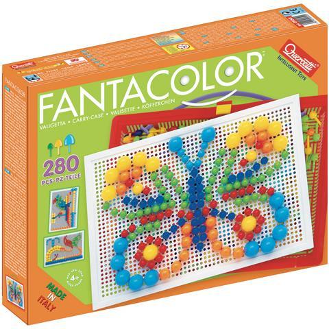 【 Quercetti 】趣味綜合釘釘看-280pcs圓釘基本組 Fantacolor Portable Mix