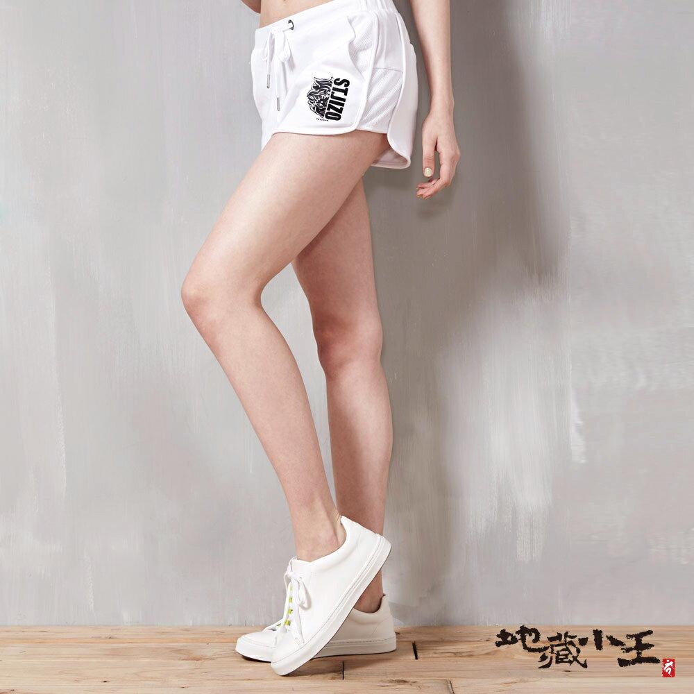 運動風棉質運動短褲(白) - BLUE WAY JIZO 地藏小王
