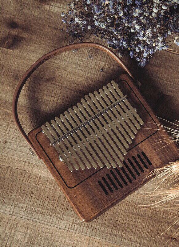 烏克時代~ Tom 17音全單板胡桃木卡林巴拇指琴 復古留聲機TK-R1
